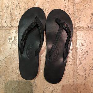 Black Rainbow Sandals SMALL